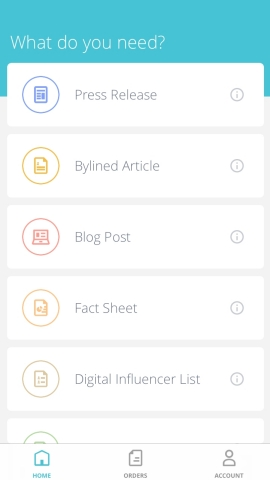 Spry Client app interface (Graphic: Business Wire)