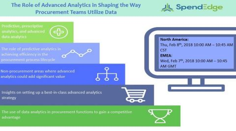 SpendEdge to Host a Webinar on the Role of Advanced Analytics in Shaping the Way Procurement Teams Utilize Data (Graphic: Business Wire)