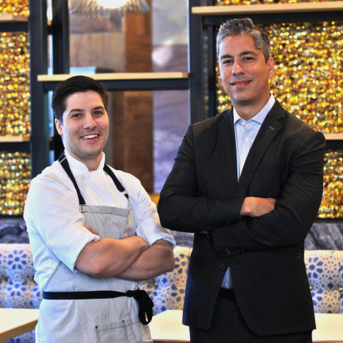 Executive Chef of Willows Hotel & Spa Restaurants Antonio Votta and Viejas Vice President of Food and Beverage David Duran (Photo: Business Wire)