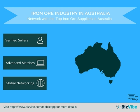 Iron Ore Suppliers in Australia - BizVibe Announces a New B2B Networking Platform for the Iron Ore Industry in Australia (Graphic: Business Wire)