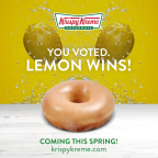 After casting nearly two million votes online over a week, America selected lemon as Krispy Kreme Doughnuts®' next, all-new Glazed Doughnut flavor. (Photo: Business Wire)
