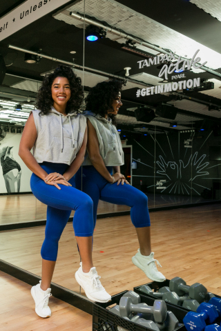 On January 25th, Tampax Pearl Active ambassador and HBFIT Founder, Hannah Bronfman hosted a workout at 305 Fitness Studio in New York, New York to encourage women to #GetInMotion every day of the month, including period days: Tampax Pearl Active's unique MotionFit Protection makes up to 100% leak-free workouts possible. (Photo: Business Wire)