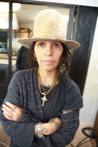"Singer-songwriter and record producer Linda Perry on the set of Intuit QuickBooks' film for ""Backing You"" Campaign. (Photo: Business Wire)"