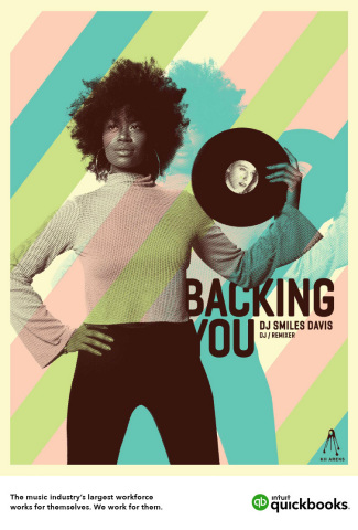 "Intuit QuickBooks' ""Backing You"" Campaign"" celebrates the many self-employed and small businesses that help build the music industry. (Graphic: Business Wire)"