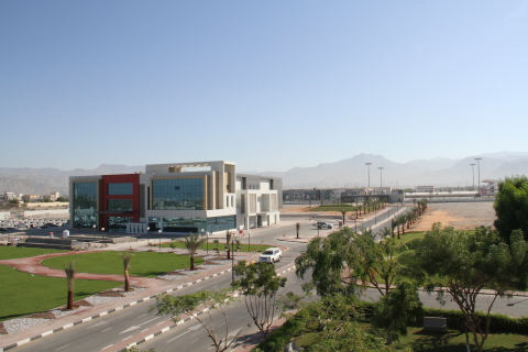 The grounds of the American University of Ras Al Khaimah (Photo: AETOSWire)