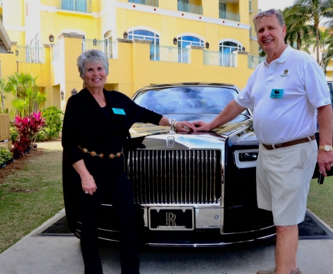 On Saturday January 27, 2018, a winning bid of $780,000 secured the honor of owning the very first eighth generation Rolls-Royce Phantom. Jon Mason and his wife Bonnie from Dover Ohio became the owner of the first Phantom to glide off the line at Goodwood, Home of Rolls-Royce in England. New Phantom offers a wholly new, contemporary design interpretation of Rolls-Royce Phantom DNA. The all-new aluminum 'Architecture of Luxury' underpinning the new Phantom is lighter, stiffer, quieter and more technologically advanced. The many years of engineering ensures the architectural and proportional lineage of Rolls-Royce while delivering a whole new level of 'Magic Carpet Ride.' All proceeds from the Festival support the Naples Winter Wine Festival's founding organization, the Naples Children & Education Foundation (NCEF), which has supports more than 60 nonprofit agencies in Collier County Florida benefiting more than 200,000 children. (Photo: Business Wire)