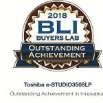 Toshiba e-STUDIO3508LP Wins Buyers Lab's Winter 2018 Outstanding Achievement in Innovation Award