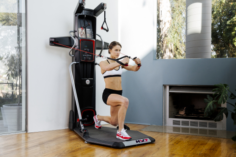 The Bowflex® HVT™ machine offers hybrid velocity training, combining cardio and strength training to provide a fast, highly effective workout. (Photo: Business Wire)