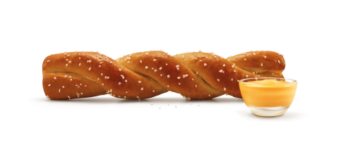 SONIC's Soft Pretzel Twist is a golden-brown pretzel, buttered and sprinkled with granular salt and served with a Signature Cheese Sauce for dipping. (Photo: Business Wire)
