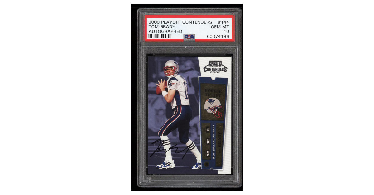 Tom Brady Rookie Card At Pwcc 2018 Inaugural Auction