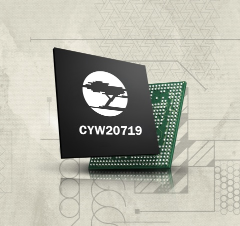 Pictured is Cypress' CYW27019 Bluetooth MCU solution for the IoT, which enables certified Bluetooth  ...