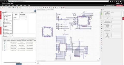 A screen shot of the OrCAD Entrepreneur design tool on Arrow.com (Graphic: Business Wire)