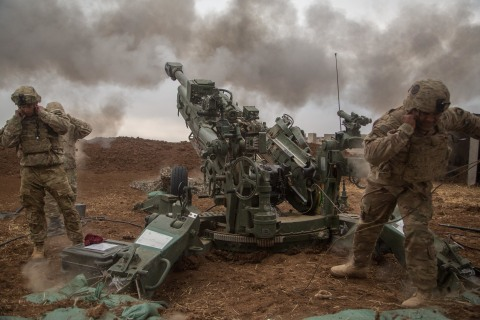 BAE Systems' precision-guidance kits are compatible with existing and experimental artillery munitions and propellants, as well as multiple firing platforms, including M777 lightweight towed howitzers. (U.S. Army photo by Spc. Christopher Brecht)