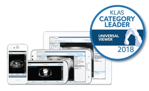 Carestream's Vue Motion was the highest rated universal viewer in the 2018 KLAS Software & Services report. It offers advanced volume matching capabilities and supports a variety of mobile devices. (Photo: Business Wire)