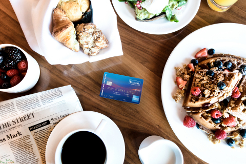 Hilton and American Express celebrate the launch of the upgraded Hilton Honors American Express co-b ...