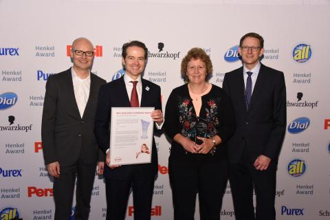 Best Innovation Contributor Laundry & Home Care / IFF (winner): Arndt Scheidgen, Axel Schröter, Judy Kerschner, Michael Dreja (Photo: Business Wire)