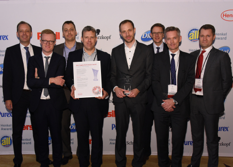 Best Supply Performance / Novozymes (winner): Thomas Holenia, Anders Lund, Claus Crone Fuglsang, Edward Gallagher, Mikael Bechsgaard, Michael Dreja, Ole Kirk, Tue Micheelsen (Photo: Business Wire)