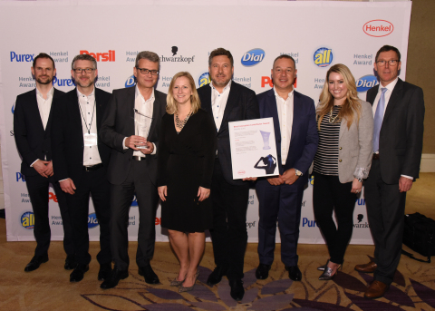 Best Innovation Contributor Beauty Care / Clariant (winner): Kevin Mutch, Gregor Keil, Ralf Zerrer, Lisa Gandolfi, Christian Vang, Nicola Garuccio, Jamie Gaynor, Thomas Förster (Photo: Business Wire)