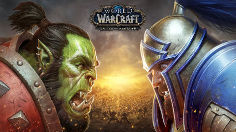 The Horde and the Alliance face off in Blizzard Entertainment's World of Warcraft Battle for Azerot