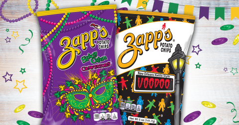 Zapp's® New Orleans Kettle Style Voodoo™ and Spicy Cajun Crawtators™ Potato Chips (Photo: Business Wire)