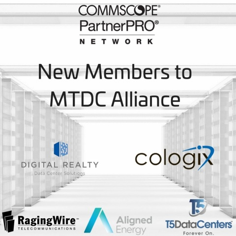 Five companies have signed on to be part of CommScope's MTDC Alliance. (Graphic: Business Wire)