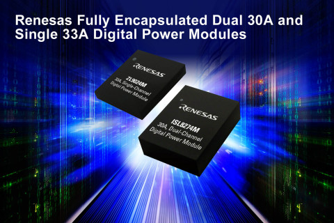 Renesas fully encapsulated dual 30A and single 33A digital power modules (Graphic: Business Wire)