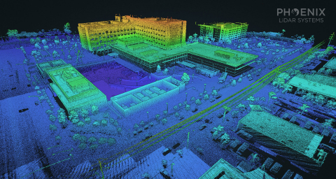 Combining their Phoenix system with Phoenix software like LiDARMill, clients can generate survey-grade 3D maps of the scanned environment in-house. (Graphic: Business Wire)