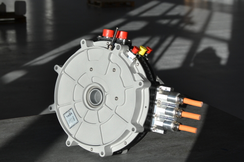 An axial-flux electric motor manufactured by YASA (Photo: Business Wire)
