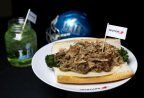 Aramark's South Philly Roast Pork Sandwich pays homage to the Philadelphia Eagles and features signature ingredients that provide a little hometown flavor for fans traveling to the big game from Philadelphia (Photo: Business Wire)