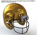 Football helmet maker uses ReverseEngineering.com and SolidWorks software to shape product line (Photo: Business Wire)