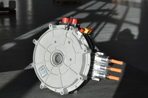 Motor elétrico de fluxo axial fabricado pela YASA (Foto: Business Wire)