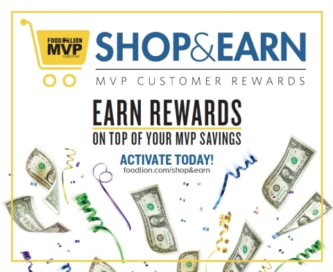 """Food Lion Unveils MVP """"Shop & Earn"""" Personalized Monthly Rewards (Graphic: Business Wire)"""