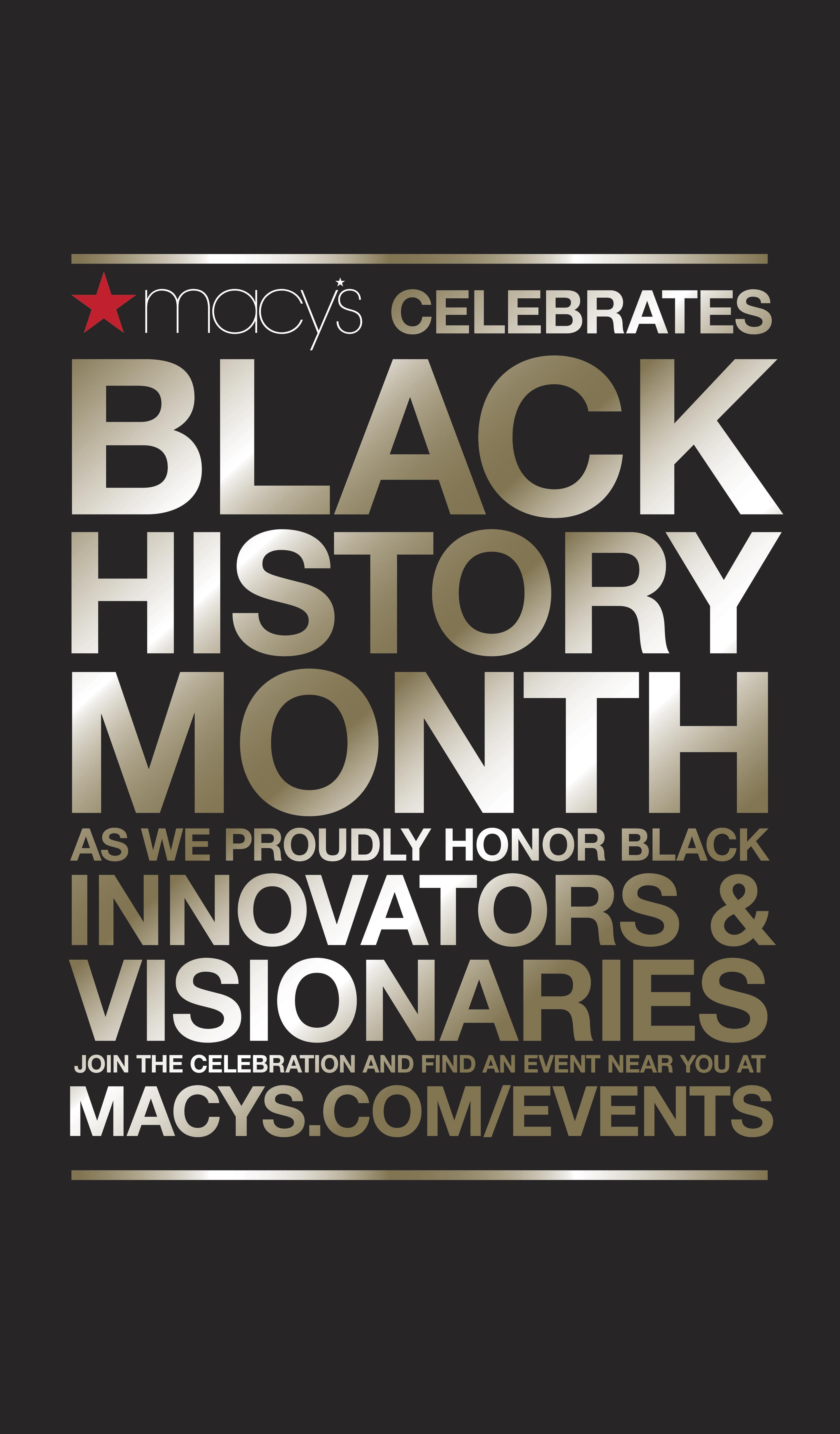 Macy\'s Celebrates Innovators and Visionaries During Black History ...