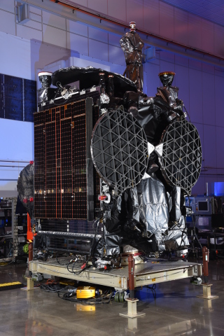 The GovSat-1 multi-mission satellite inside Orbital ATK's satellite manufacturing facility in Dulles, Virginia. (Photo: Business Wire)