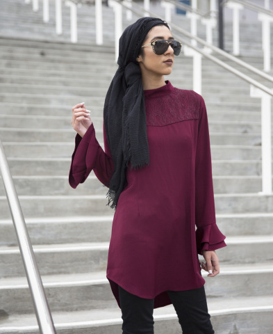 Verona Collection will be available on macys.com starting Feb. 15. Emilia Lace Top, $54.95. (Photo:  ...