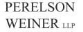Perelson Weiner, LLP