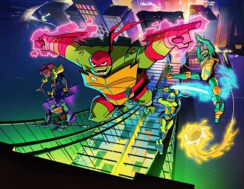 Nickelodeon's Rise of the Teenage Mutant Ninja Turtles. Pictured (clockwise): Raphael, Michelangelo, ...