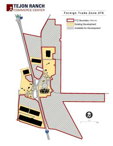 Foreign Trade Zone at Tejon Ranch Commerce Center Expands Significantly (Graphic: Business Wire)