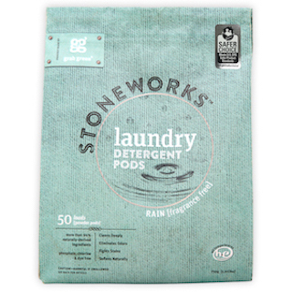 Safer Choice certified Stoneworks Laundry Detergent Pods in Rain (Fragrance Free) by Grab Green. (Photo: Business Wire)