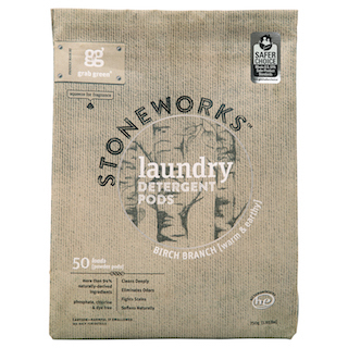 Safer Choice certified Stoneworks Laundry Detergent Pods in Birch Branch fragrance by Grab Green. (Photo: Business Wire)