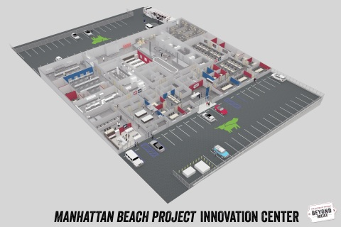 Beyond Meat's New Manhattan Beach Project Innovation Center in Los Angeles will Expand the Current R&D Footprint by Seven-Fold. (Graphic: Business Wire)