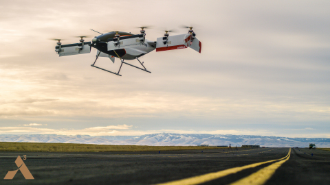 Vahana, the all electric, self-piloted aircraft from A³ by Airbus, today announced the successful completion of its first full-scale flight test. (Photo: Business Wire)