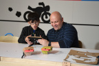 In this photo provided by Nintendo of America, kids enjoy making a Toy-Con RC Car at an exclusive event in New York on Feb. 2, 2018. Toy-Con RC Car is one of five different Toy-Con projects included in the Nintendo Labo Variety Kit, launching in stores on April 20. Nintendo Labo kits offer interactive build-and-play experiences designed to inspire creativity and discovery.