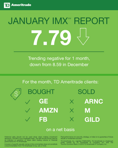 TD Ameritrade January 2018 Investor Movement Index (Graphic: TD Ameritrade)