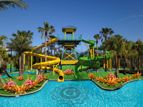 Surf's up beginning March 1st at The Grove Resort and Spa in Orlando. Catch the wave only at Surfari Water Park minutes from Walt Disney World®! (Photo: Business Wire)