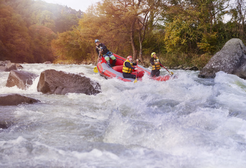 Adventure sports abound in Japan, such as white water rafting at the Minakami Outdoor Adventure in Gunma Prefecture (Photo: Business Wire)