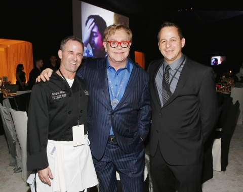 As the official caterers for the Elton John AIDS Foundation Academy Awards Viewing Party for a 15th year, Chef Wayne Elias (left) and Chris Diamond (right) are tasked with serving and pleasing the palates of Hollywood's biggest A-listers for Sir Elton John. (Photo: Business Wire)