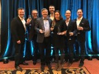 Accenture team members accept the SAP North America Partner Excellence Award 2018 for SAP Hybris Solutions