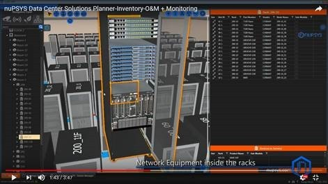 nuPSYS Data Center Solutions Planner - Inventory - O&M + Monitoring - Network Equipment Inside the Racks (Graphic: Business Wire)