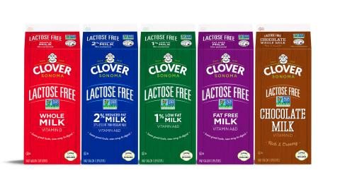 Clover Sonoma First Non-GMO Lactose Free Milk (Photo: Business Wire)